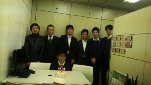 東京渋谷事務所にて、倉本さんのお誕生日会